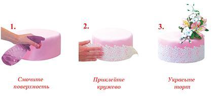 Кружево №3 розовое Добрик